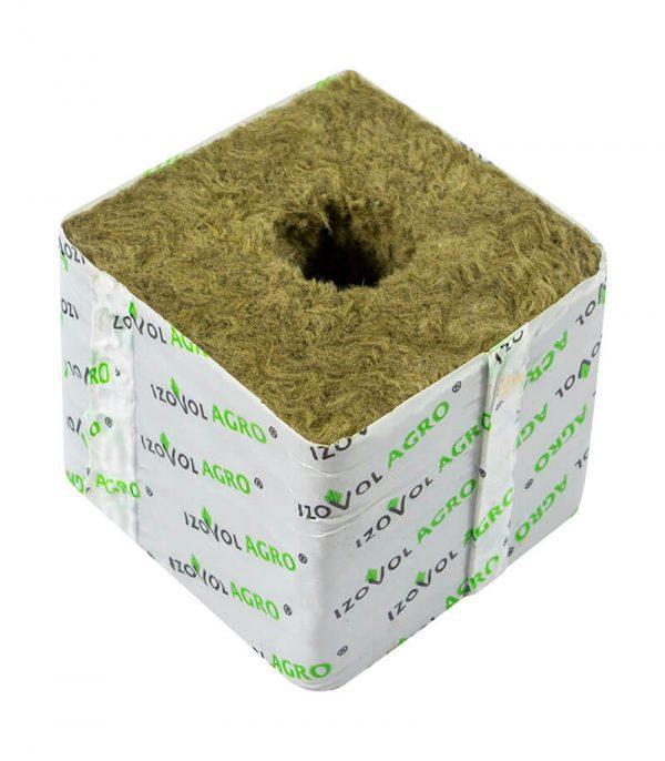 Кубик минеральной ваты 75x75x65